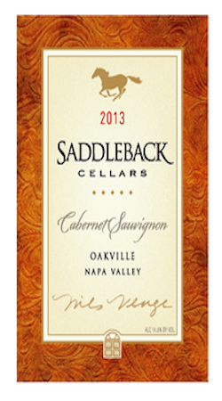Saddleback Cellars 2013 Cabernet Sauvignon Napa Valley